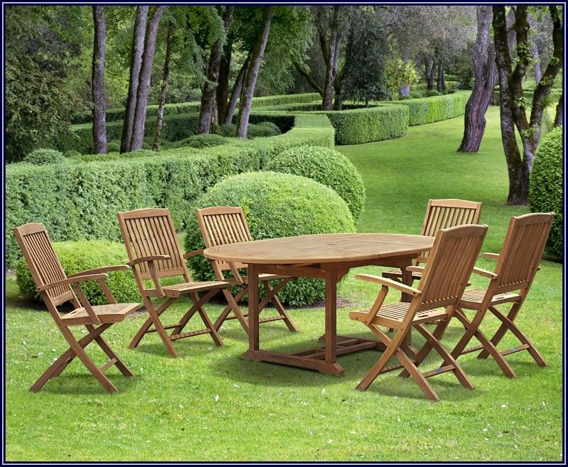 Folding Teak Patio Set