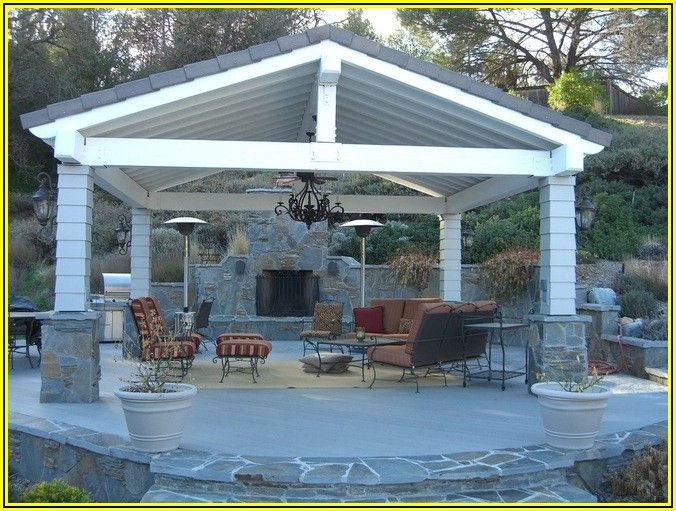 Free Standing Patio Roof Plans