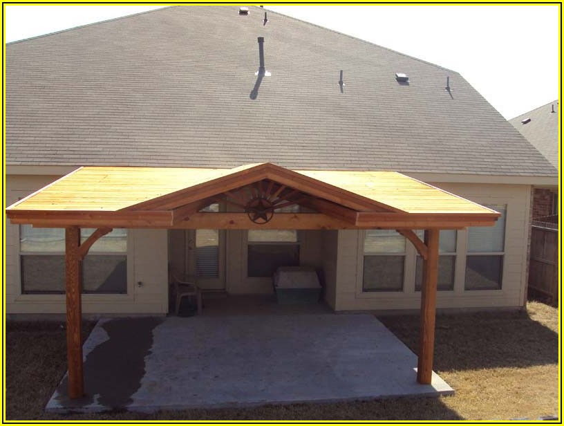 Gable Roof Patio Attached To House