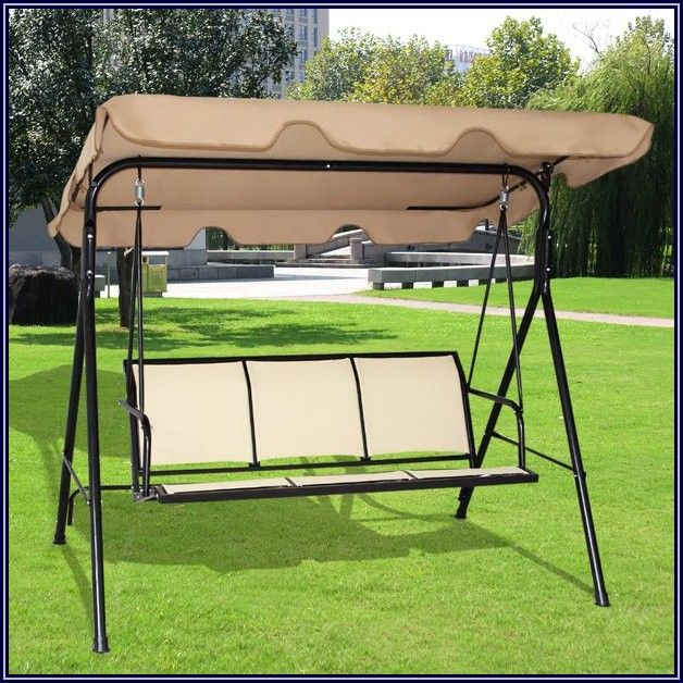 Giantex Three Person Outdoor Patio Swing Canopy