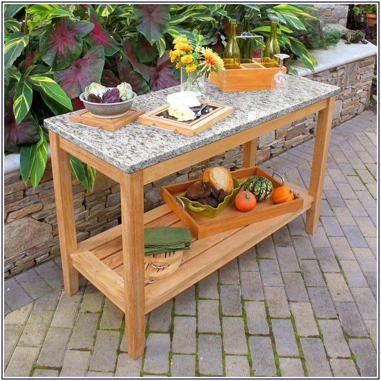 Granite Top Patio Table