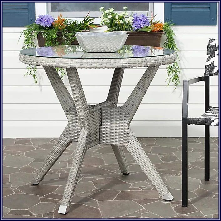 Gray Patio Side Table