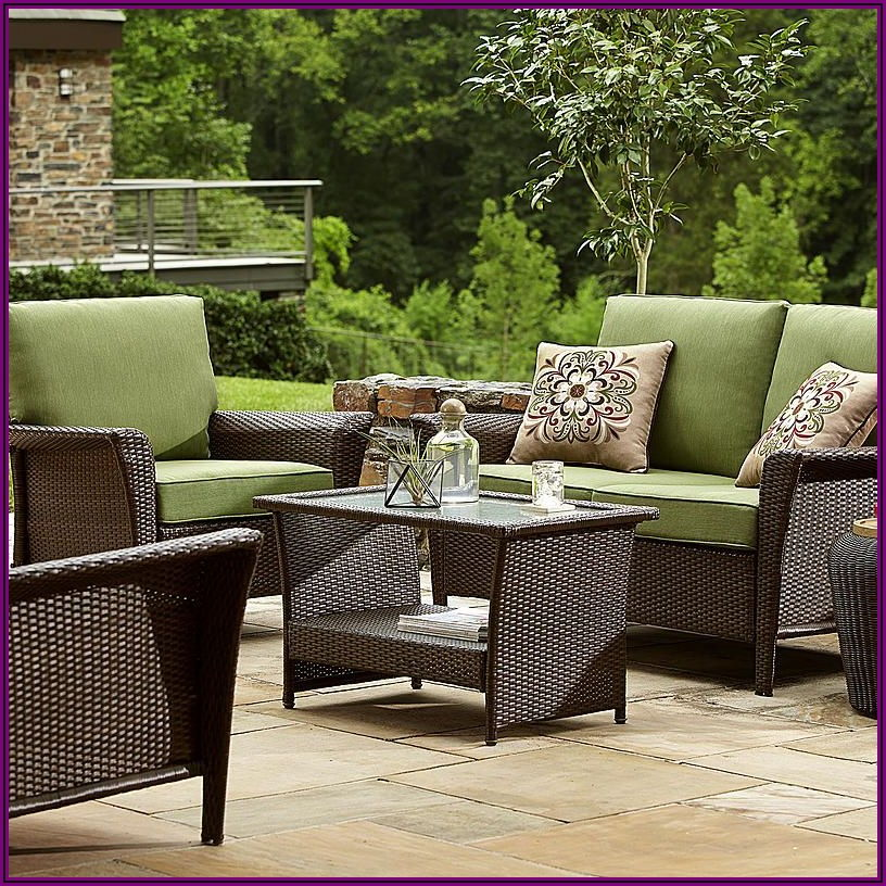 Green Deep Seat Patio Cushions