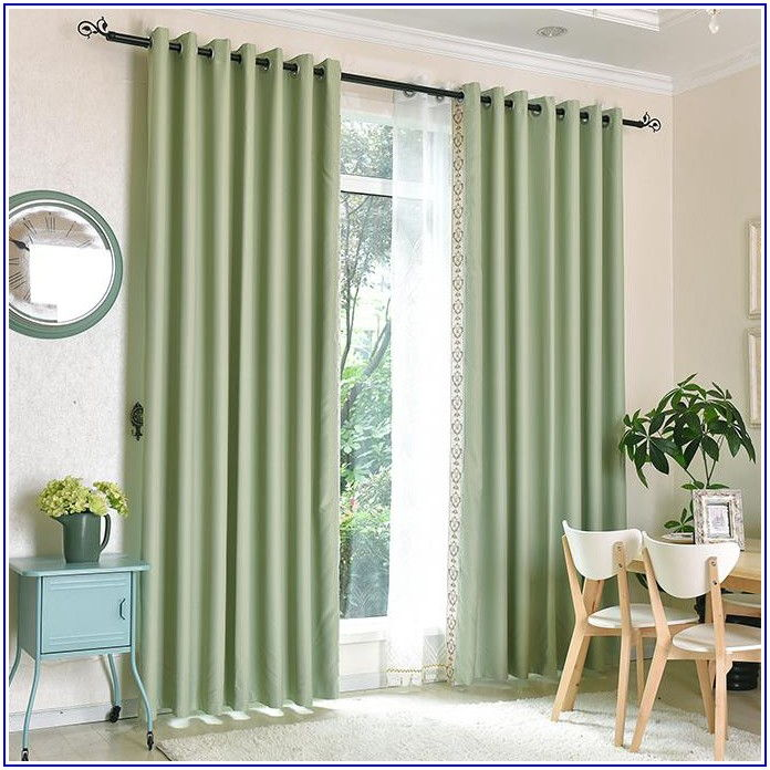 Green Patio Door Curtains