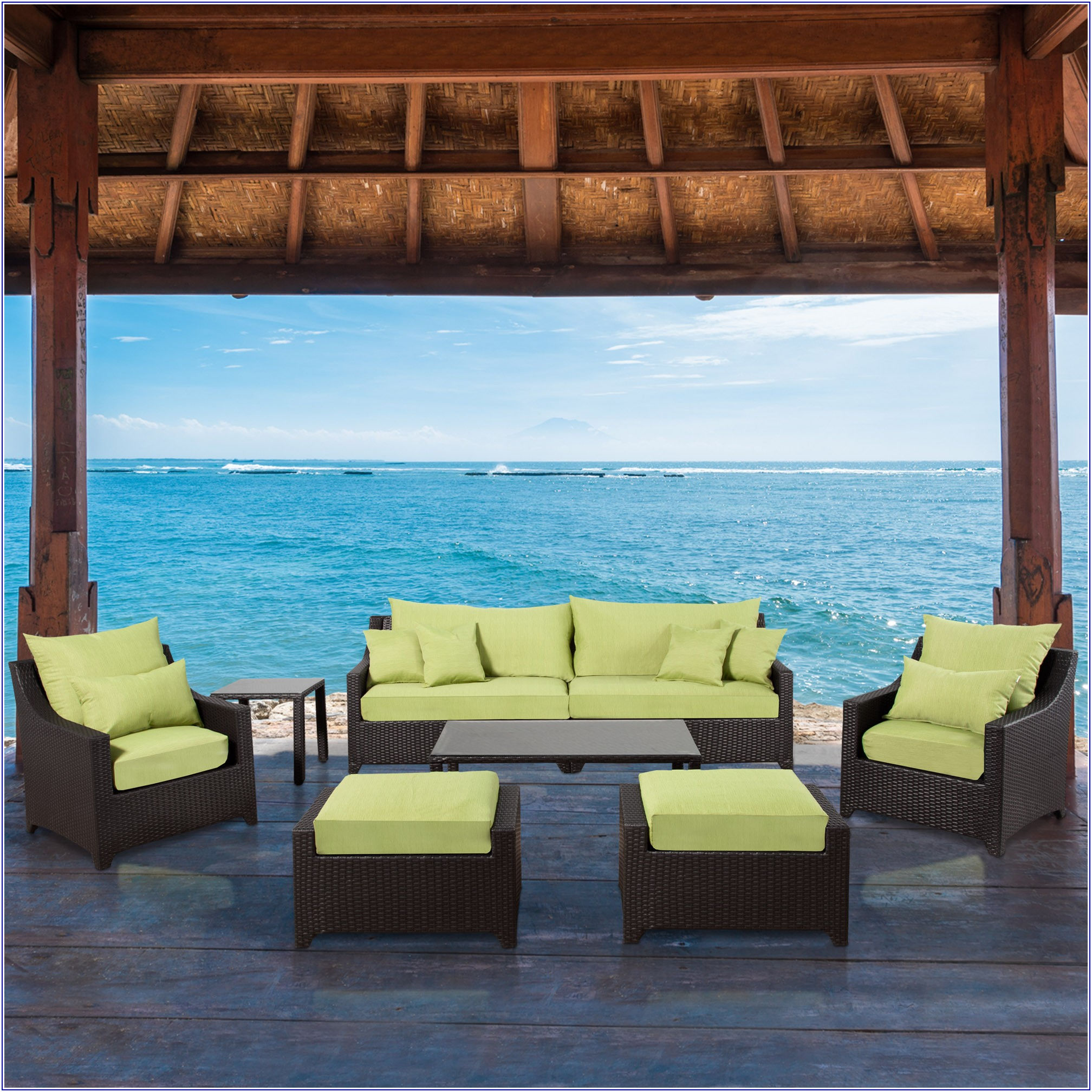 Green Wicker Patio Furniture