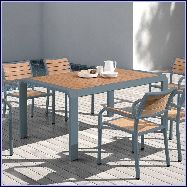 Grey Aluminum Patio Table