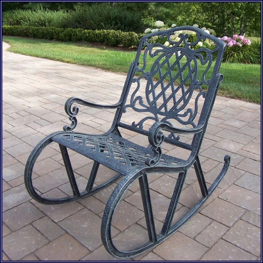 Grey Metal Patio Chairs