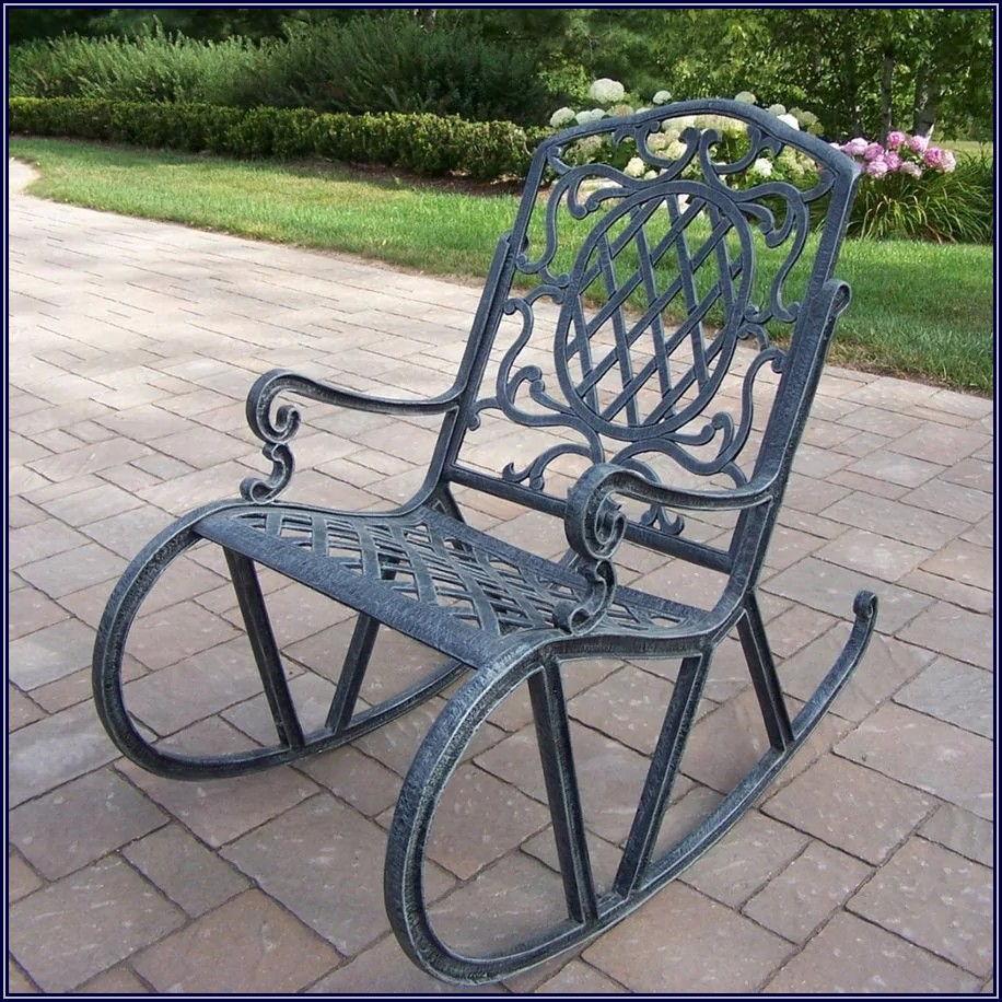 Grey Metal Patio Chairs