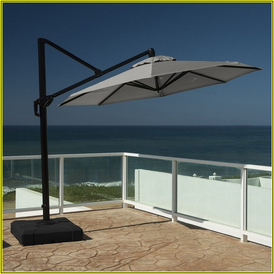 Grey Offset Patio Umbrella