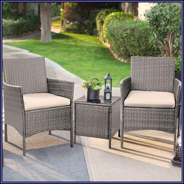 Grey Wicker Outdoor Patio Furniture