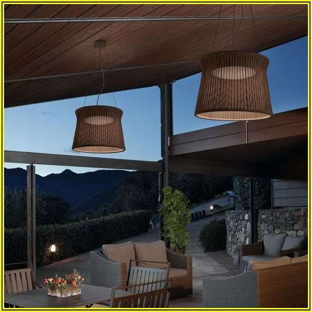 Hanging String Lights On Alumawood Patio