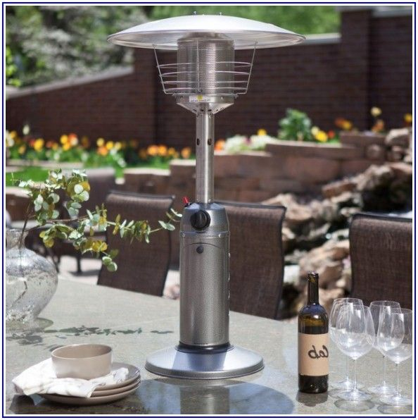 Hiland Tabletop Bronze Glass Tube Patio Heater