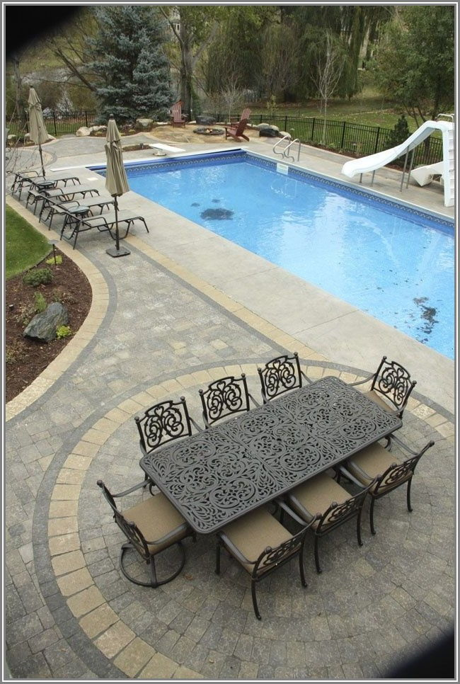 Inground Pool And Patio Designs