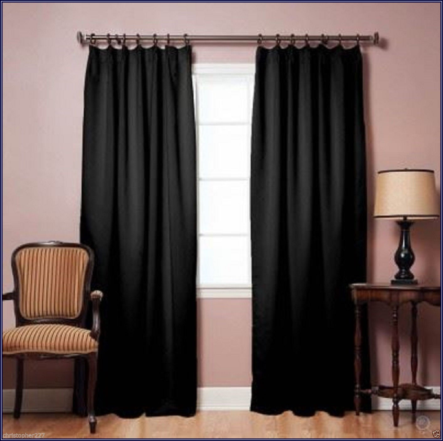 Insulated Pinch Pleated Patio Door Drapes