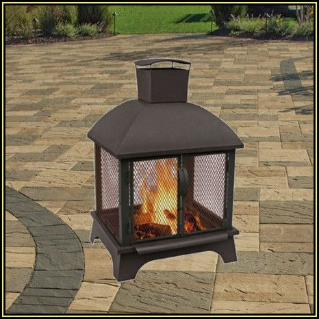 Landmann Usa Patio Lights Fire Pit With Cooking Grate Deer And Tracks