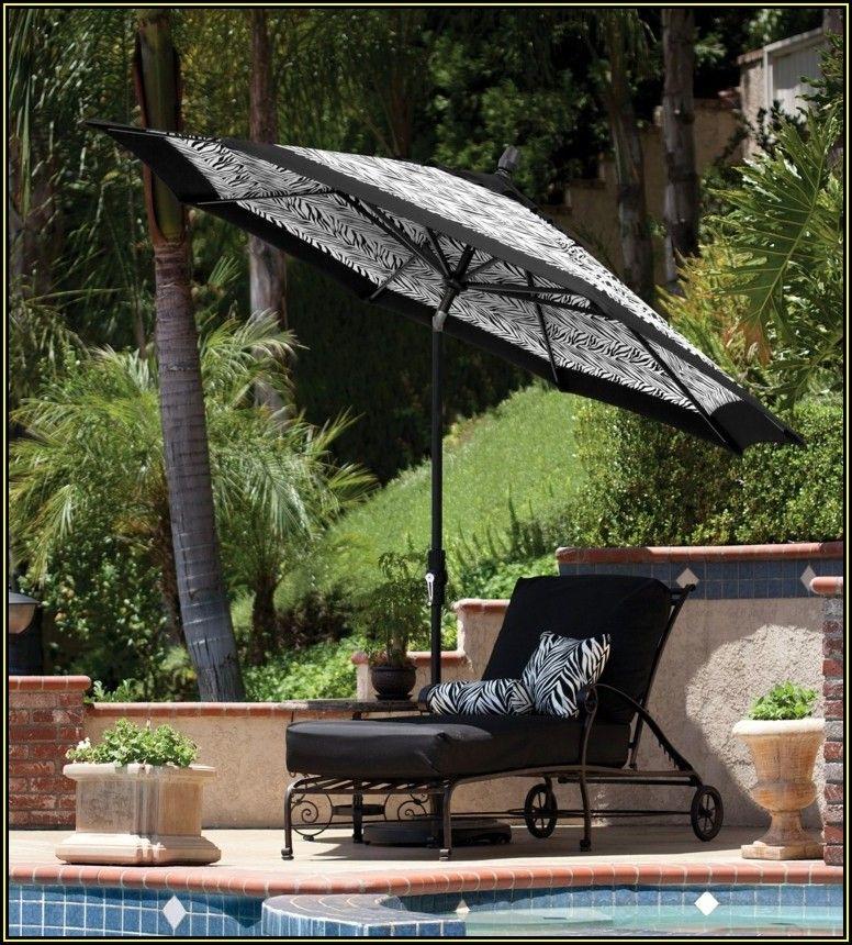 Leopard Print Patio Umbrella