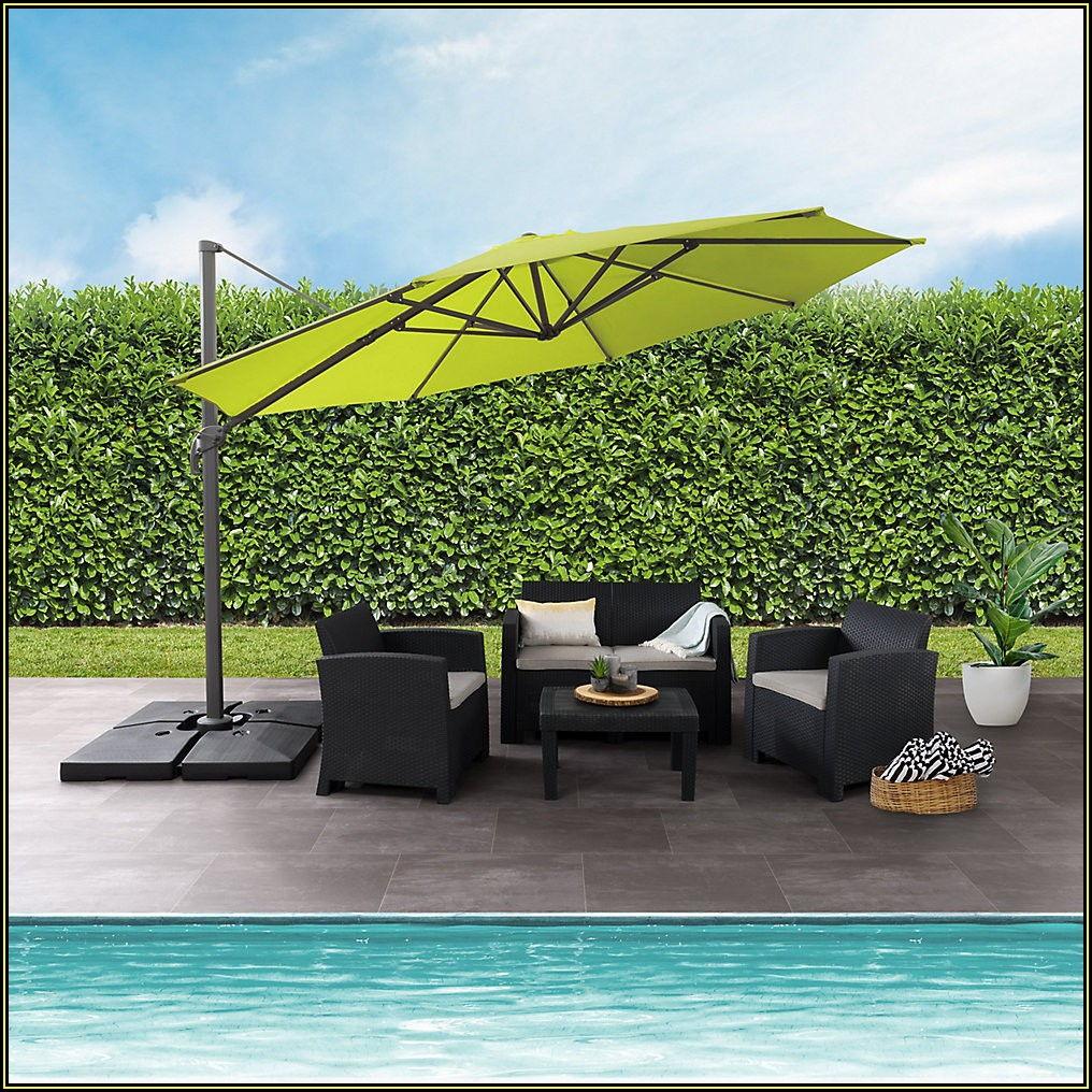 Lime Green Offset Patio Umbrella