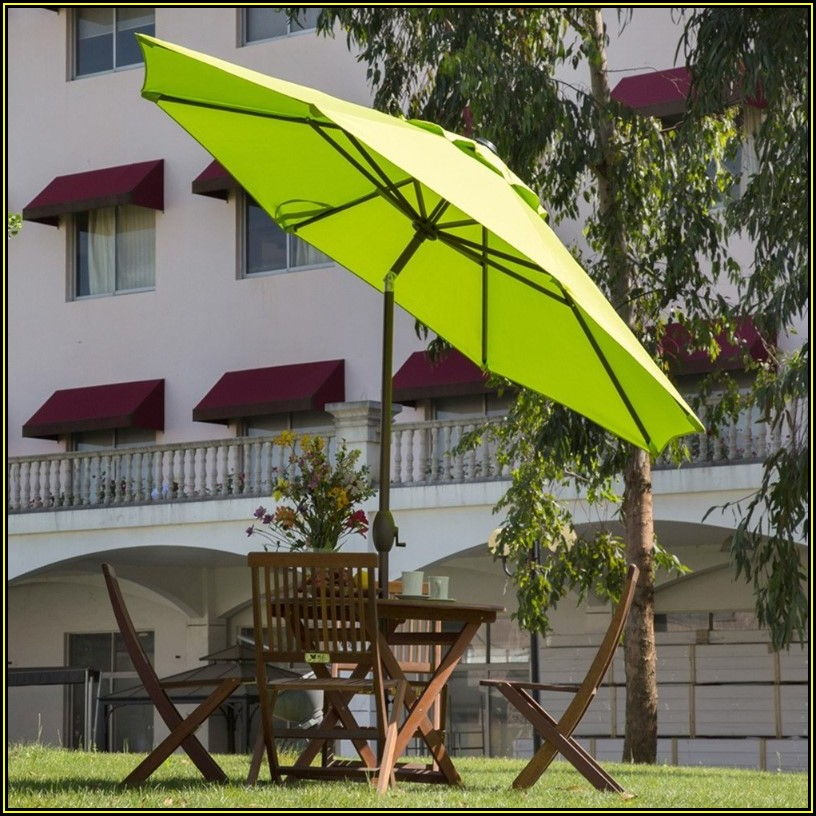 Lime Green Rectangular Patio Umbrellas