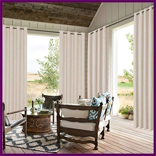 Linen Patio Door Curtains
