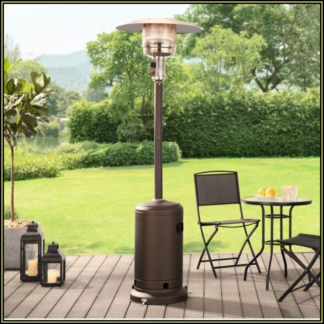 Mainstays Large Outdoor Patio Heater Powder Coat Brown