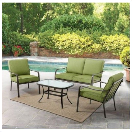 Mainstays Rockview 4 Piece Patio Conversation Set