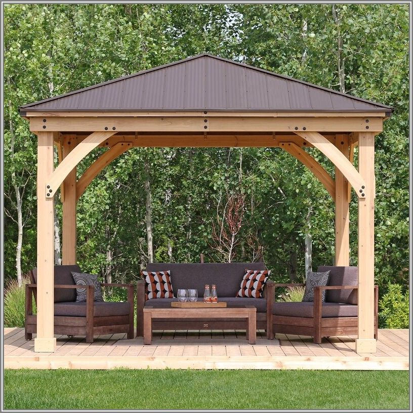 Meridian Solid Wood Patio Gazebo