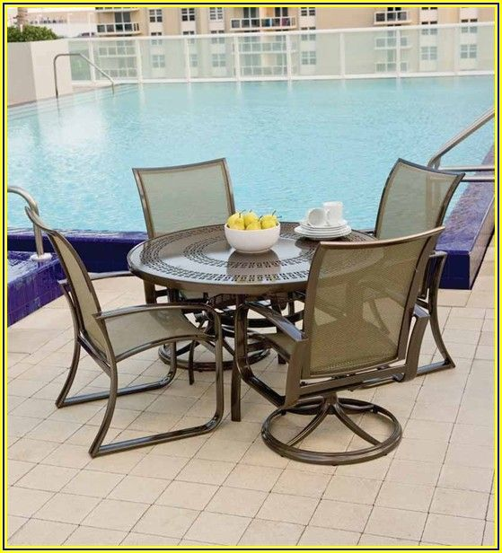 Mesh Swivel Patio Chairs