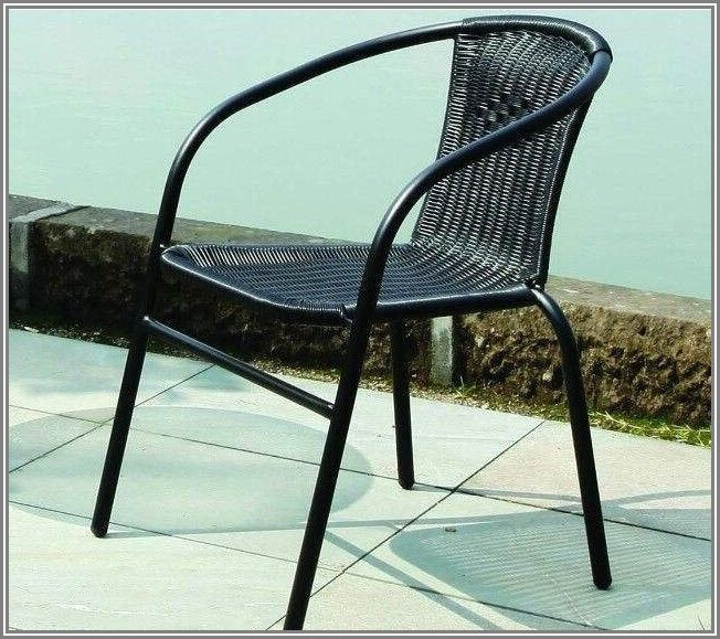Metal And Wicker Patio Chairs