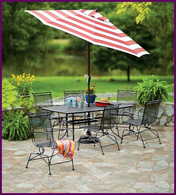 Metal Coil Spring Patio Chairs