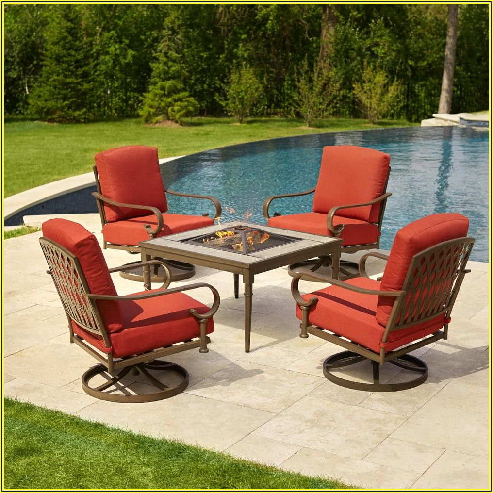 Metal Outdoor Patio Set With Fire Pit