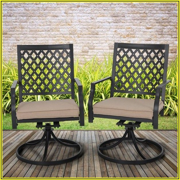 Metal Swivel Patio Chairs With Cushions