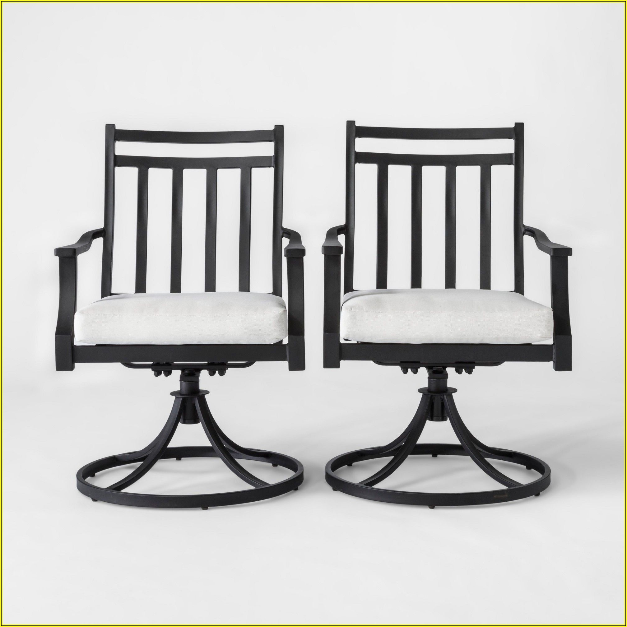 Metal Swivel Patio Chairs