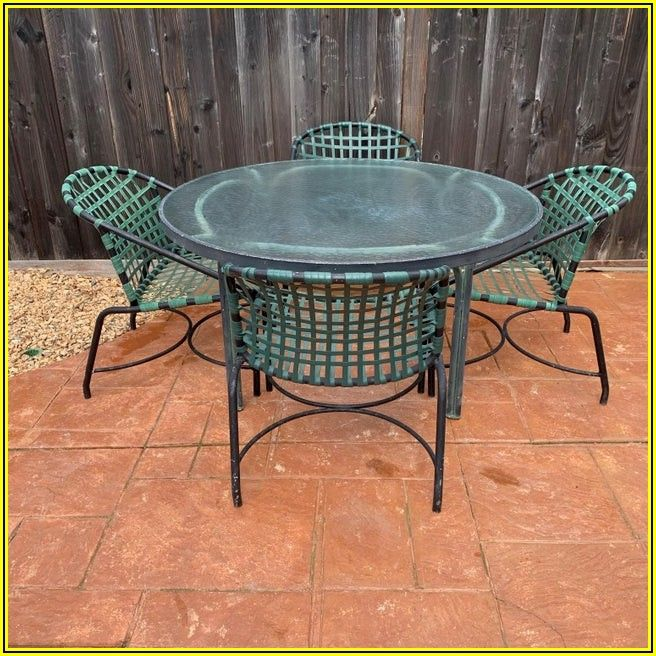 Mid Century Modern Patio Dining Set