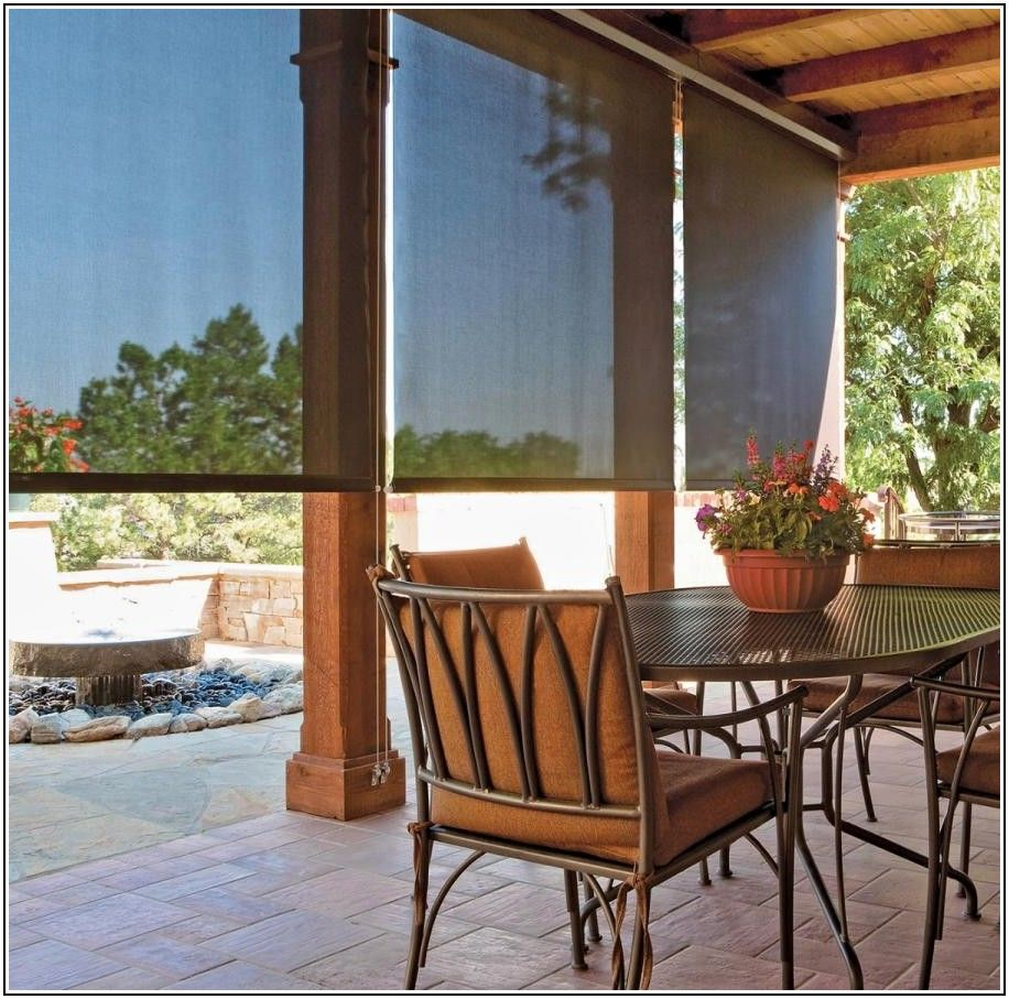 Motorized Sun Shades Patio