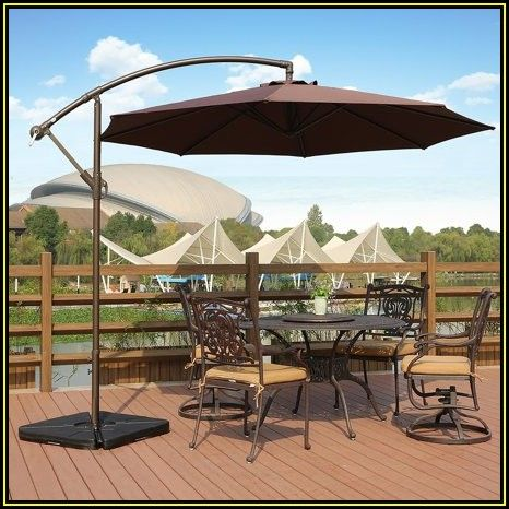 Navarro 10 Ft Outdoor Hanging Patio Umbrella