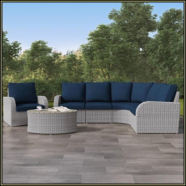 Navy Blue Patio Sectional