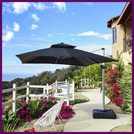 Navy Cantilever Patio Umbrella