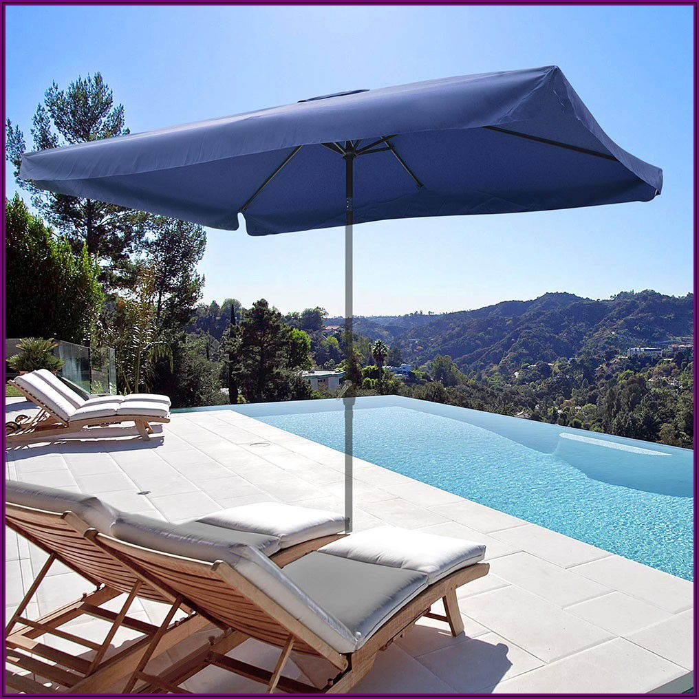 Navy Rectangle Patio Umbrella