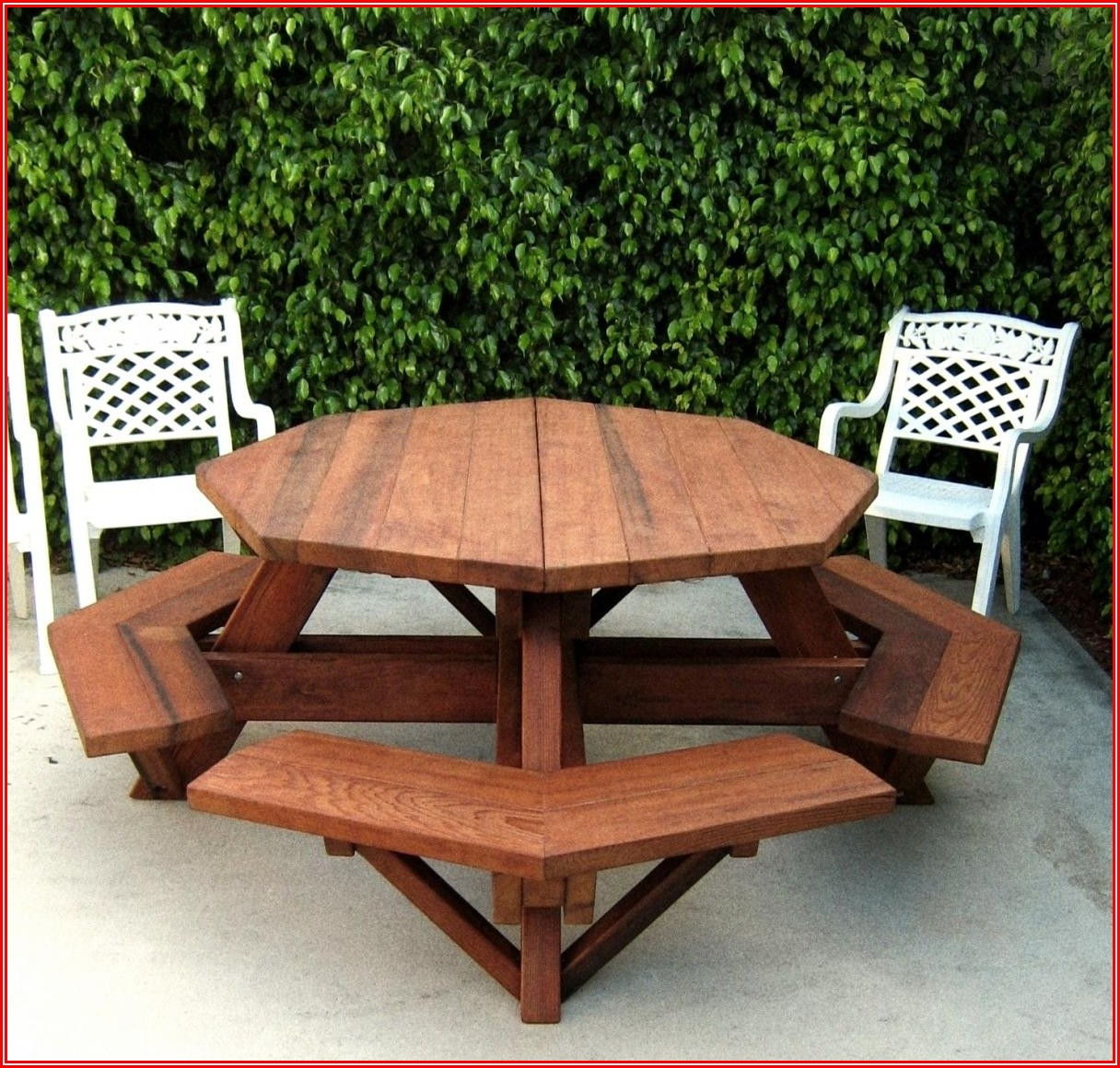 Octagon Shaped Patio Table
