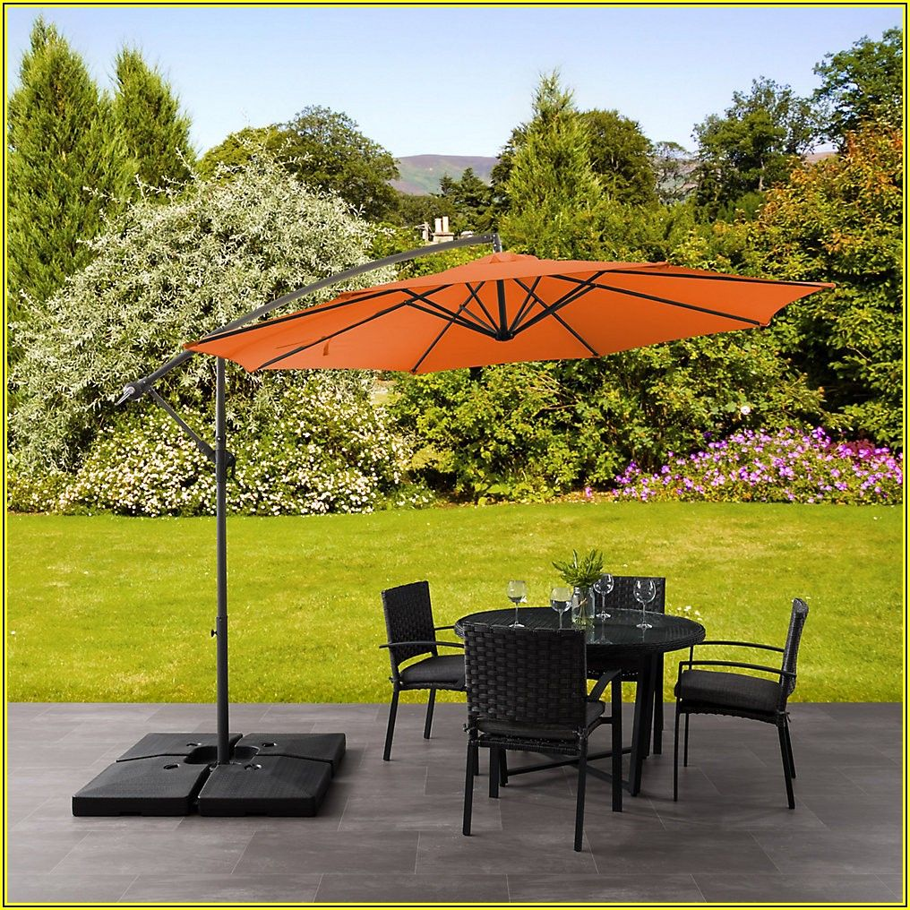 Orange Offset Patio Umbrella