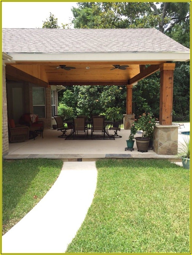 Outdoor Covered Patio Attached To House