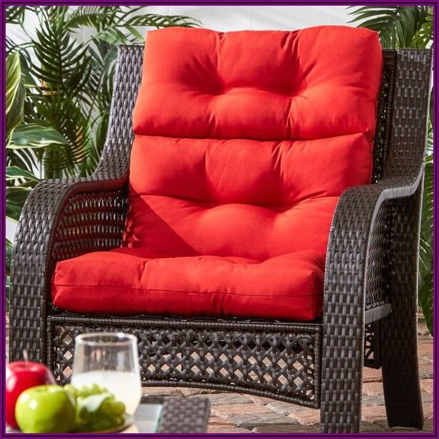 Outdoor High Back Patio Chair Cushions