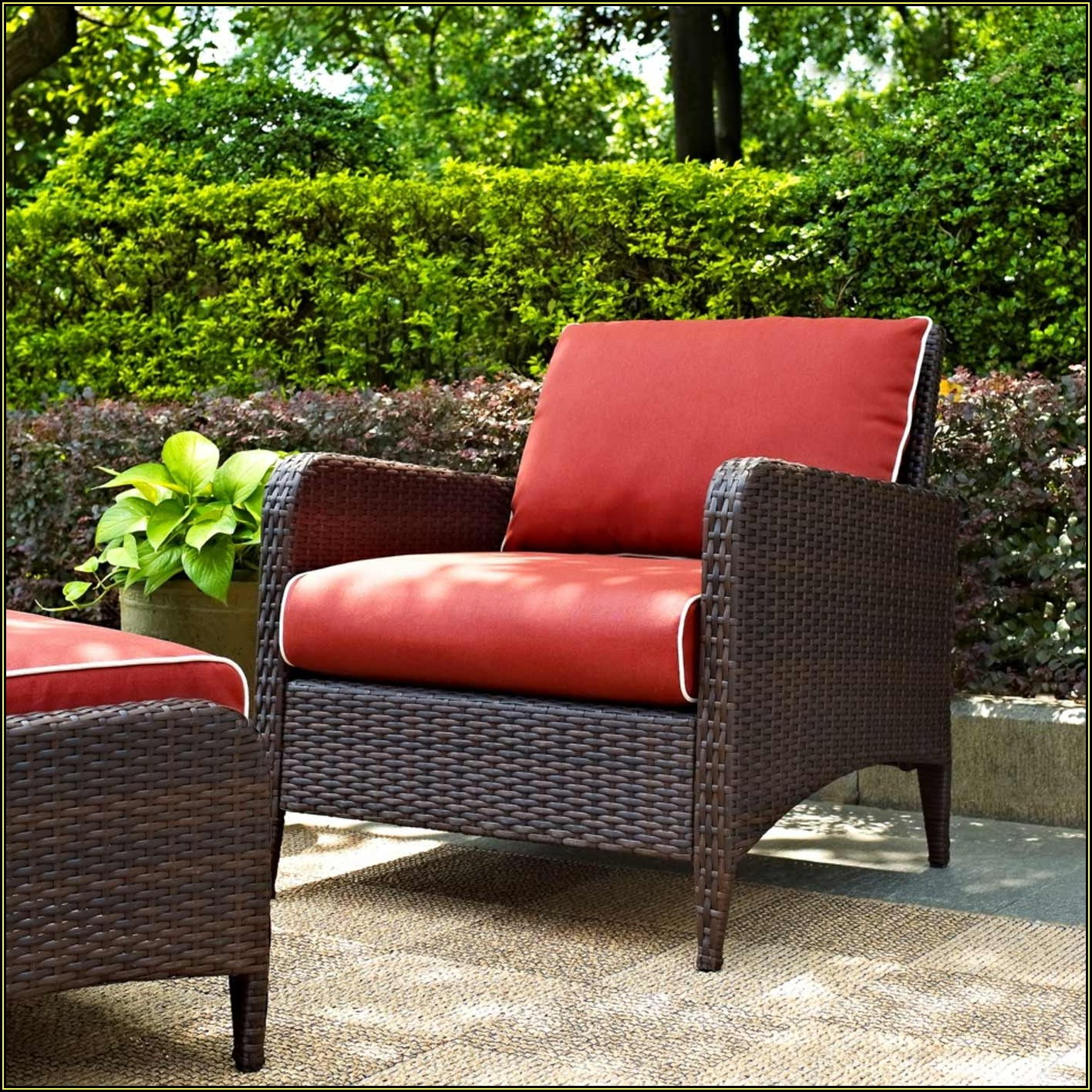 Outdoor Patio Chair And Ottoman