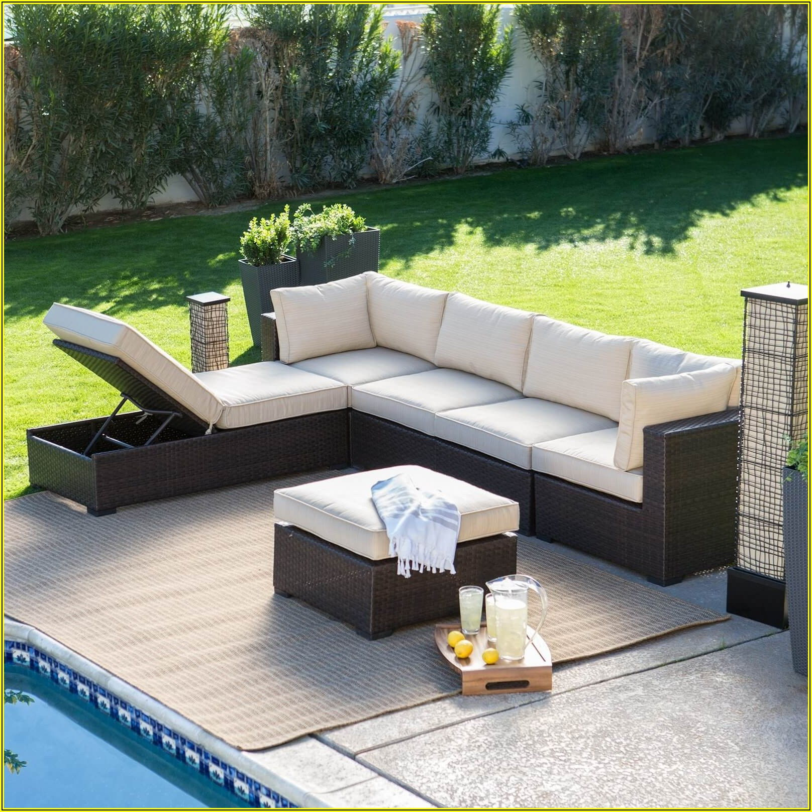 Outdoor Patio Furniture Loveseat
