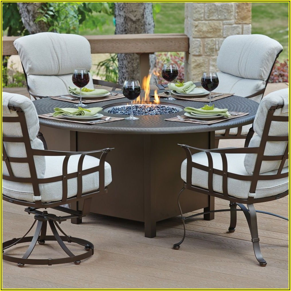 Outdoor Patio Furniture With Fire Pit Table