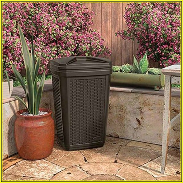 Outdoor Patio Garbage Can