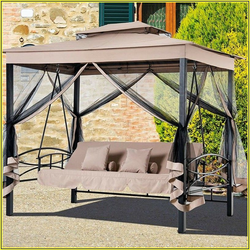 Outdoor Patio Gazebo Swing