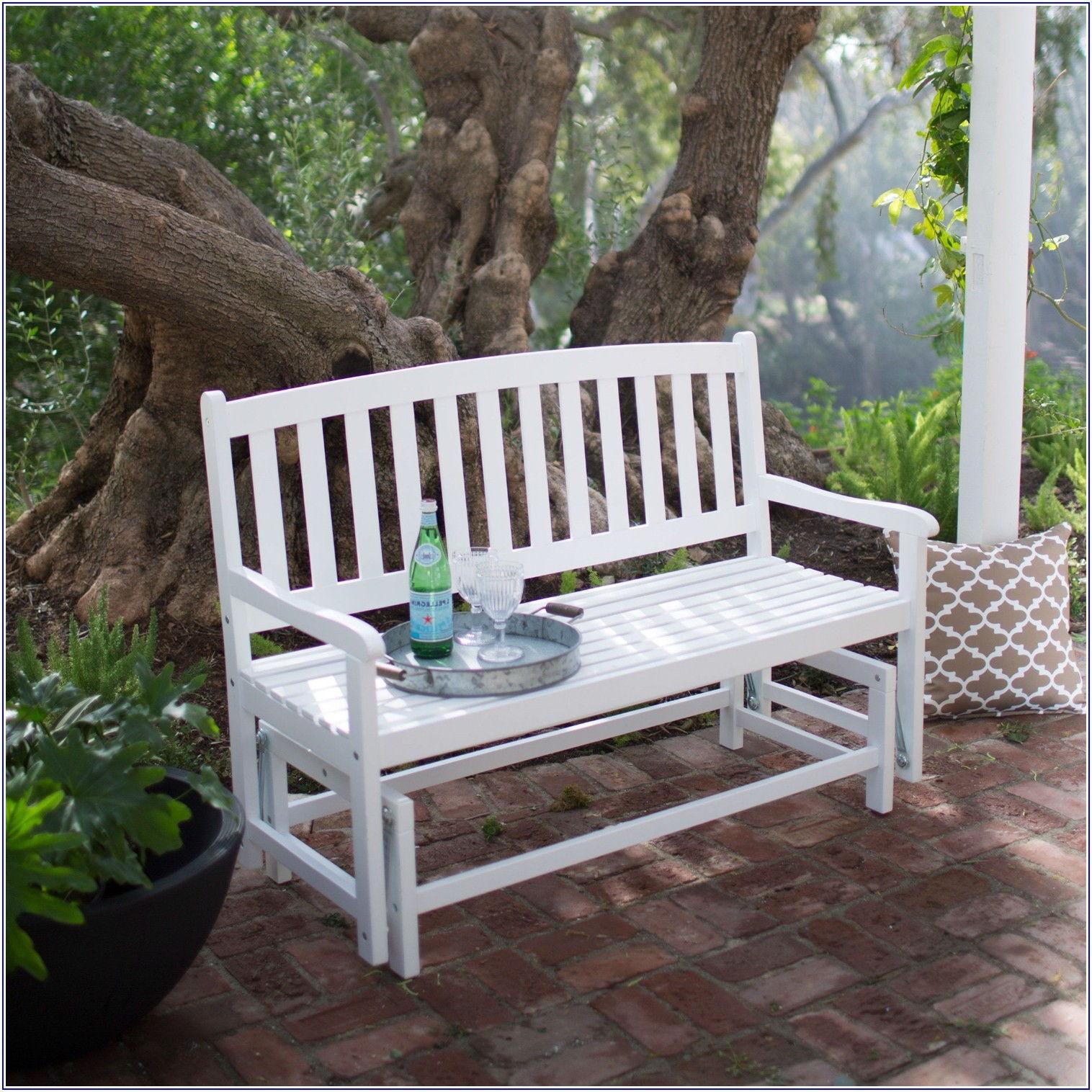 Outdoor Patio Glider Bench