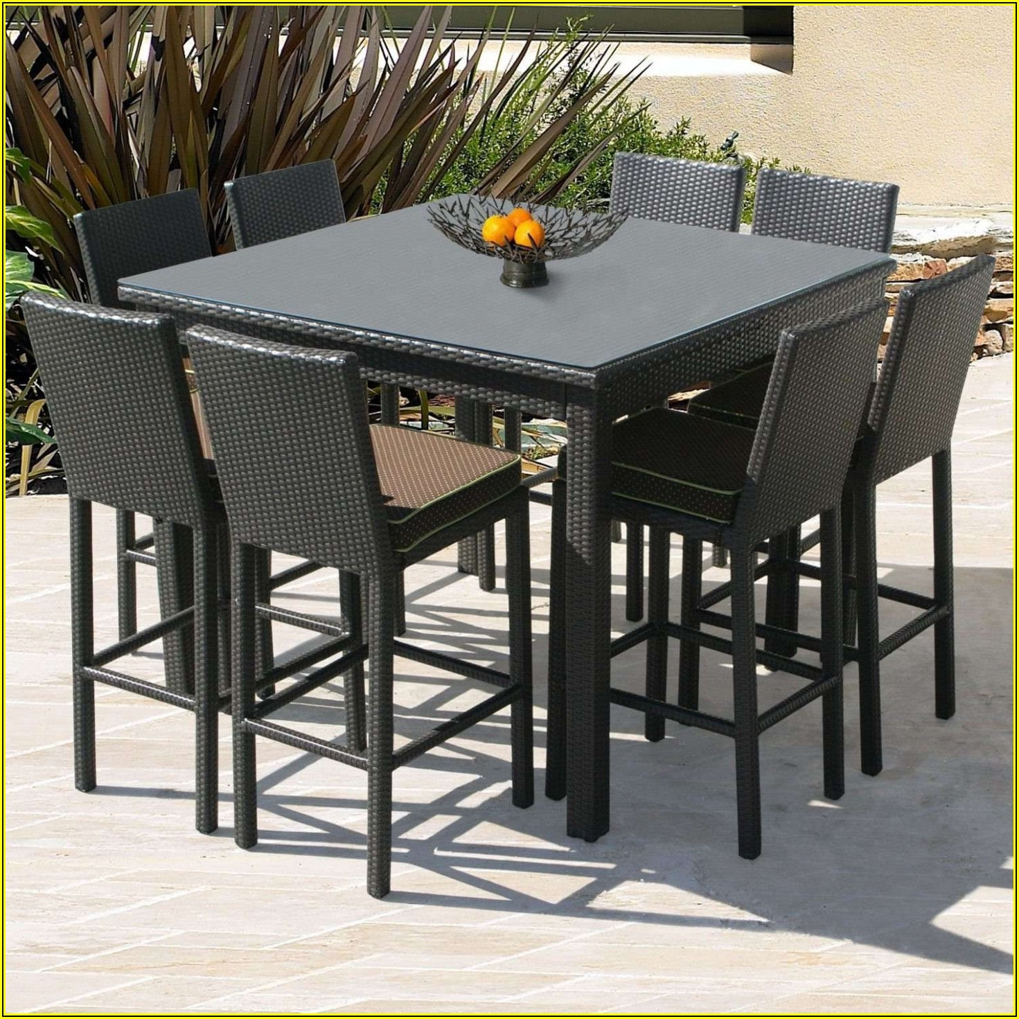 Outdoor Patio Pub Table And Chairs