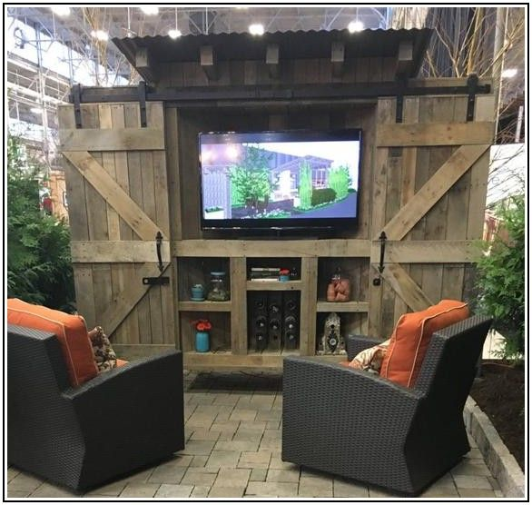 Outdoor Patio Tv Stand Ideas